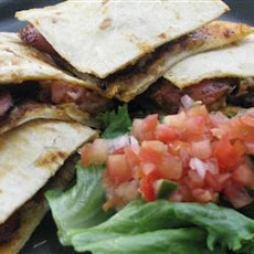 Polish Sausage Corn Chip Quesadillas