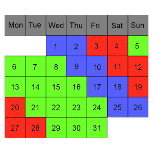 Shift Work Calendar For PC (Windows & MAC)