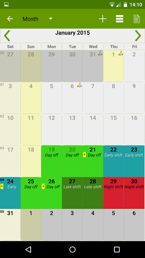FlexR Pro (Shift planner) Screenshot 4