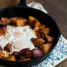 Potato Masala and Egg Skillet