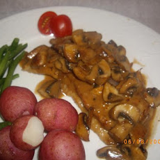 Sauteed Veal Scallops in a Wild Mushroom Cream Sauce