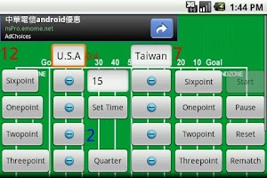 Screenshot of Sport Scoreboard
