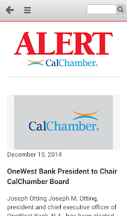 CalChamber Alert - screenshot