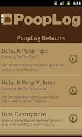 Screenshot of PoopLog
