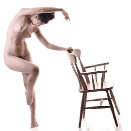 All curves by Vineet Johri - Nudes & Boudoir Artistic Nude ( nude girl, creative posing art nude, chair, art nude, vkumar photography, madam bink )