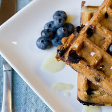 Fresh Blueberry Waffles with Lemon Icing