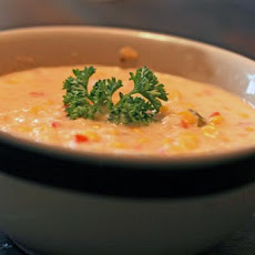 Healthier Corn and Crab Bisque