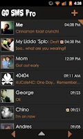 Screenshot of Go SMS Theme Orange Minimal