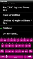 Screenshot of Pink Laser HD Keyboard Skin