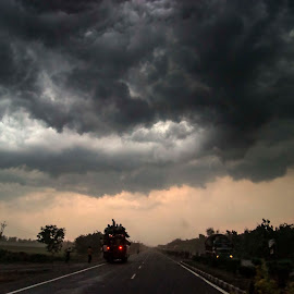 by Arijit Banerjee - News & Events Weather & Storms ( clouds, nature, street, weather, road, storms )