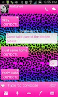 Screenshot of Go SMS Themes: Rainbow Cheetah