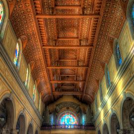 Ceiling by Uroš Petrič - Buildings & Architecture Places of Worship ( wooden, church, faith, ceiling, slovenia, sveta gora, Architecture, Ceilings, Ceiling, Buildings, Building )