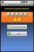 Screenshot of EuroDroid EuroMillions Manager