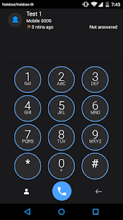 ExDialer Theme Flat Holo Blue - screenshot