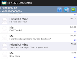 Screenshot of Free SMS Uzbekistan