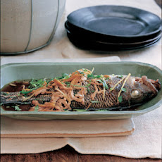 Steamed Sea Bass with Shredded Pork