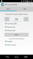 Screenshot of Call Log Calendar