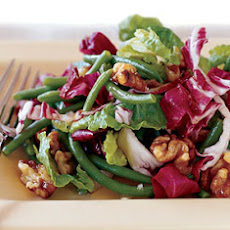 Radicchio and Haricot Vert Salad with Candied Walnuts