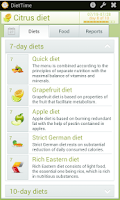 Screenshot of DietTime All Diet Sets