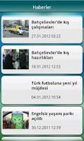 Screenshot of Bahçelievler Belediyesi