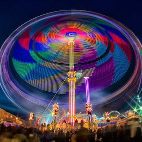 by Barry Jones - Public Holidays Christmas ( funfair, color, colors, fairground,  )