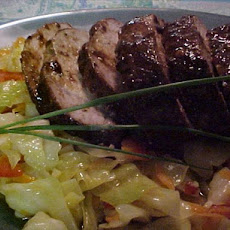 Asian Pork Tenderloin With Spicy Asian Cole Slaw