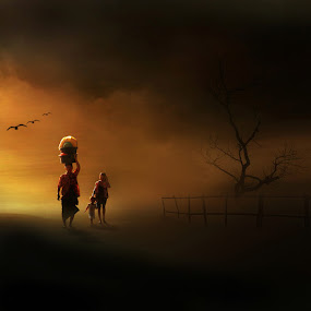 Going Home by Bli Gede Bagoes IGPWT - Digital Art People