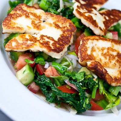 Asian Noodle Salad with Fried Halloumi