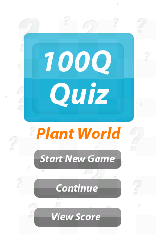 Plant World - 100Q Quiz