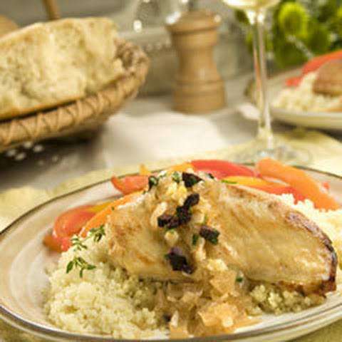 Pan-roasted Chicken With White Balsamic Au Jus