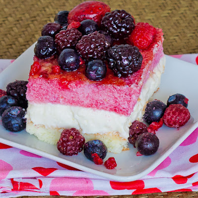 Berry Cheese Cake Squares