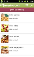 Screenshot of Cocina enfemenino : recetas