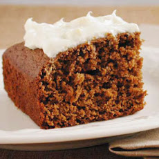 Molasses Cake with Lemon Cream Cheese Frosting
