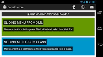 Screenshot of baruckis.com SLIDE MENU