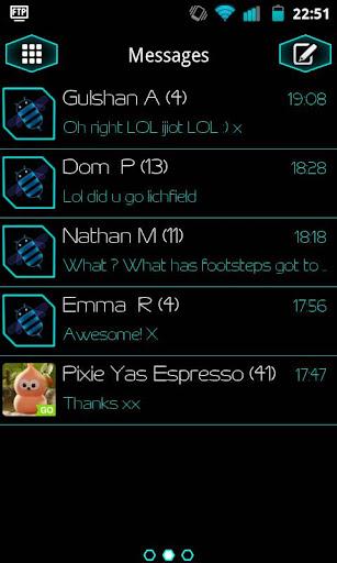 GO SMS Pro P1 Honeycomb Theme