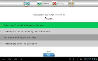 Screenshot of sTutor - GMAT Vocab Lite