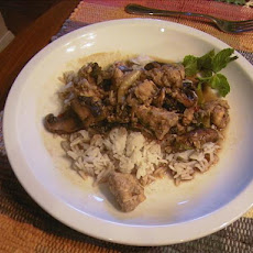 Thai Chicken with Ginger and Mushrooms - Gai King