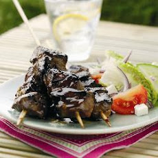 Lamb Skewers In Garlic And Balsamic Marinade