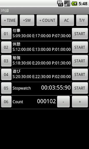 TimeCountRec