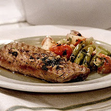 Grilled Tuna Steaks with Potato and Green Bean Salad Recipe | Yummly