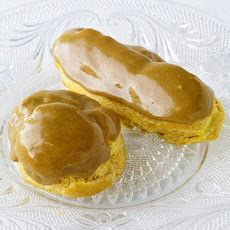 Eclairs with Pastry Cream and Maple-Espresso Glaze