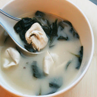 Make-Ahead Miso Lemongrass Soup with Mushroom Dumplings