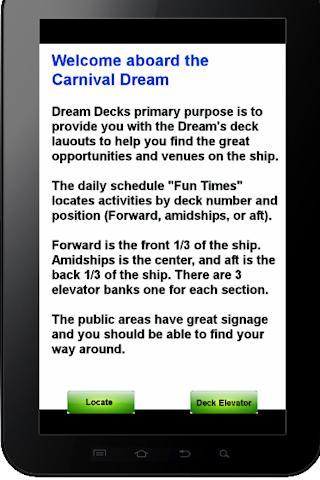 Carnival Dream decks