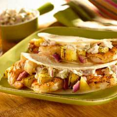 Shrimp Tacos With Jalapeno Tartar Sauce