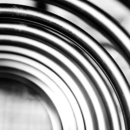 Rings by Cory Bohnenkamp - Abstract Patterns ( abstract, patterns, b&w, metal, black and white, barsa )