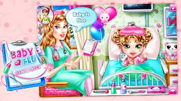 Screenshot of Baby Flu-Doctor Care