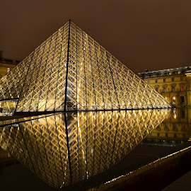 Louvre at Night by Dusan Stanisic - City,  Street & Park  Night ( louvre, louvre night )