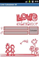 Screenshot of Love Calculator XY-XX