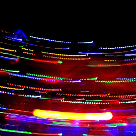 Light Trail by Ganesh Mandavkar - Abstract Light Painting ( abstract, colors, light trails, running, painting )