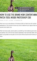 Screenshot of Photoshop CS6 Tutorials